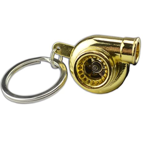Amazon Com Gold Metal Spinning Turbo Bearing Keychain Key Ring