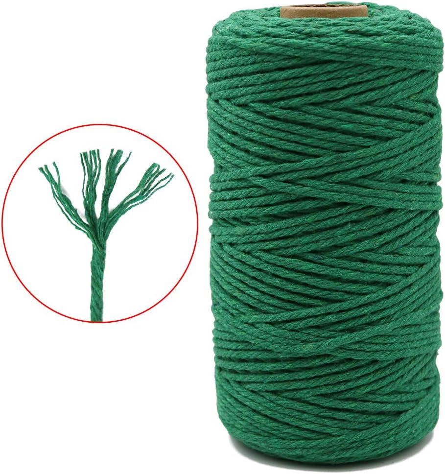 perfetto per fai da te 4 fili per fai da te corda decorativa giardinaggio filo di cotone nero G2PLUS 3 mm di spessore 100 m di filo