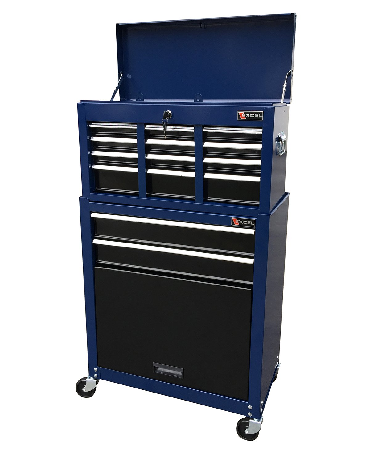 Amazon.com: Excel TB220X-AB-Blue 8- Drawer Chest and Roller ...