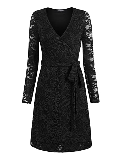 Miagooo Long Sleeve Dresses For Women Fashion 2017 Lace Midi