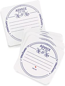 Hortense B. Hewitt Advice for The Mr. and Mrs. Coasters Wedding Accessories, Set of 25
