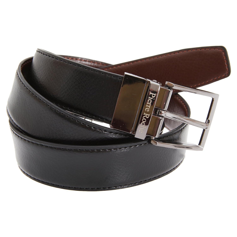 Pierre Roche - Cinturón reversible de piel 3.2cm hombre caballero