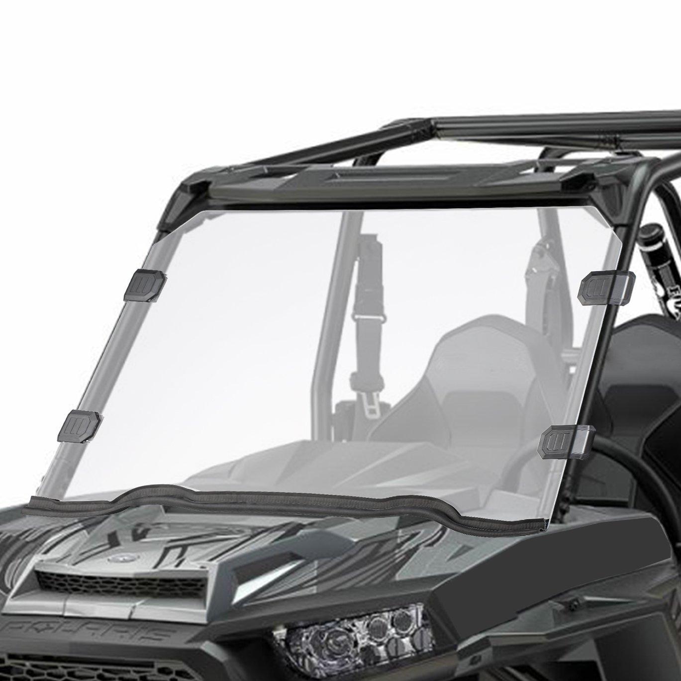 Polaris Razor UTV Full Windshield for 15-18 RZR 900, 15-18 RZR 4 900, 15-18 RZR S 900, 15-18 RZR XC 900, 14-18 RZR 1000, 16-18 RZR S 1000, 16-18 RZR XP Turbo, 14-18 RZR 4 1000 Orion Motor Tech