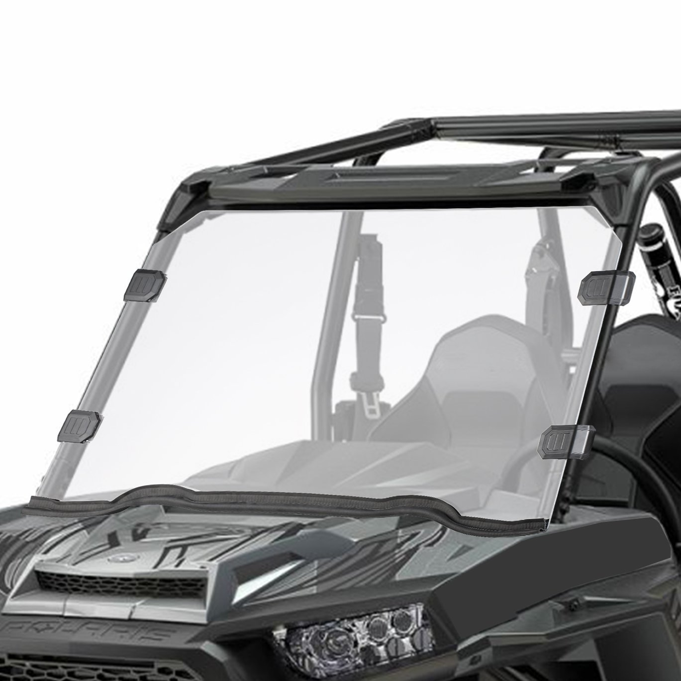 Orion Motor Tech UTV Full Windshield, Compatible with Polaris Razor, 15-18 RZR 900, 15-18 RZR 4 900, 15-18 RZR S 900, 15-18 RZR XC 900, 14-18 RZR 1000, 16-18 RZR S 1000, 16-18 RZR XP Turbo, 14-18 RZR