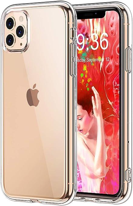 Bovon Cover Compatibile con iPhone 11 PRO, Crystal Trasparente Protettiva Case Assorbimento degli Urti, AntiGraffio in Silicone TPU Morbido ...