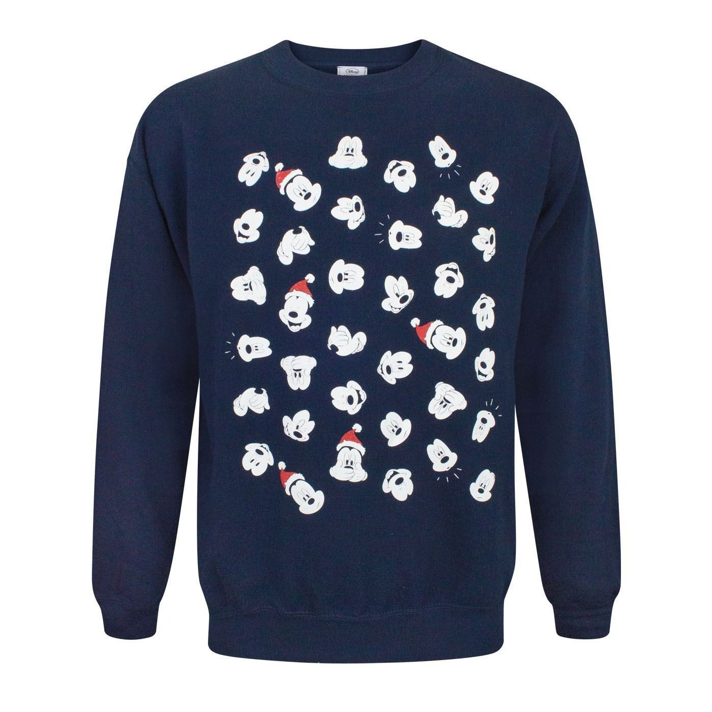 Disney Mickey Mouse Faces Christmas Sweatshirt Fashion UK