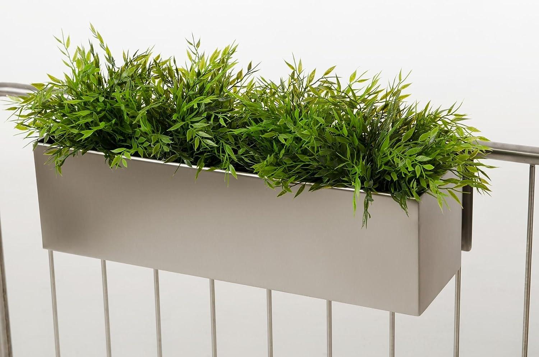 Blumenkasten Balkonkasten Binox aus V2A Edelstahl, 60 cm, gebürstet ...