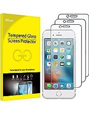 JETech Pellicola Protettiva per iPhone 6s, iPhone 6 iPhone 7 e iPhone 8, Vetro Temperato, Pacco da 3
