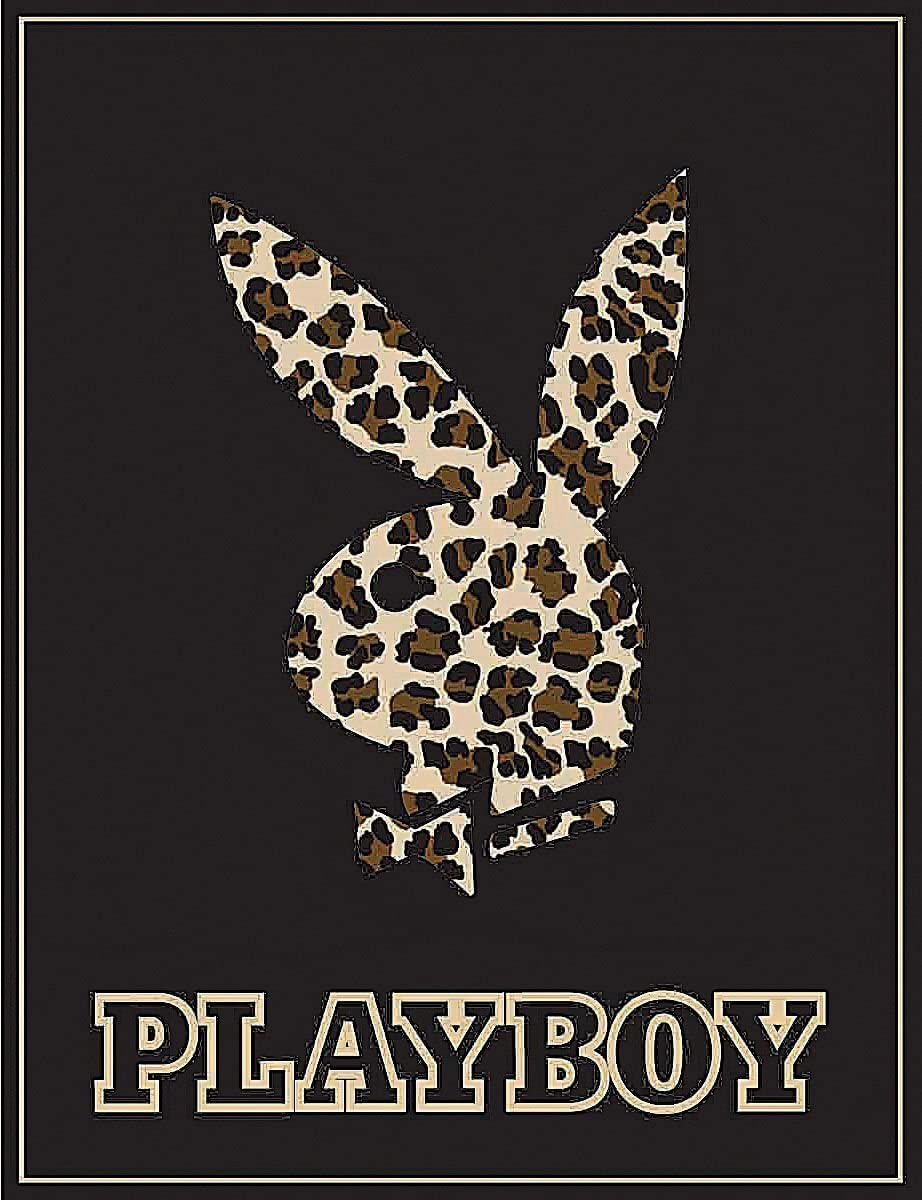Playboy Bunny Leopard High Pile Thick Fleece Throw Blanket