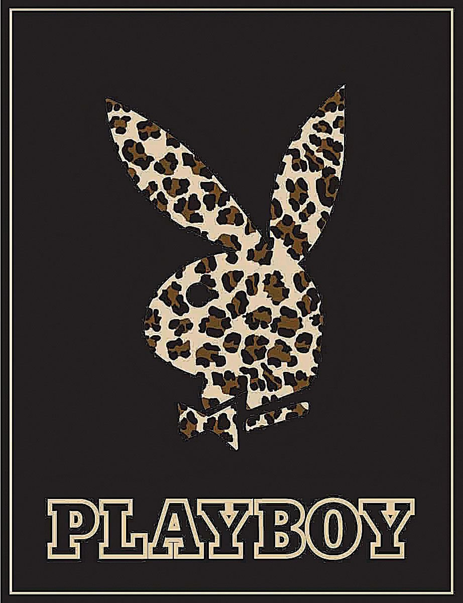 Playboy Bunny Leopard High Pile Thick Fleece Throw Blanket
