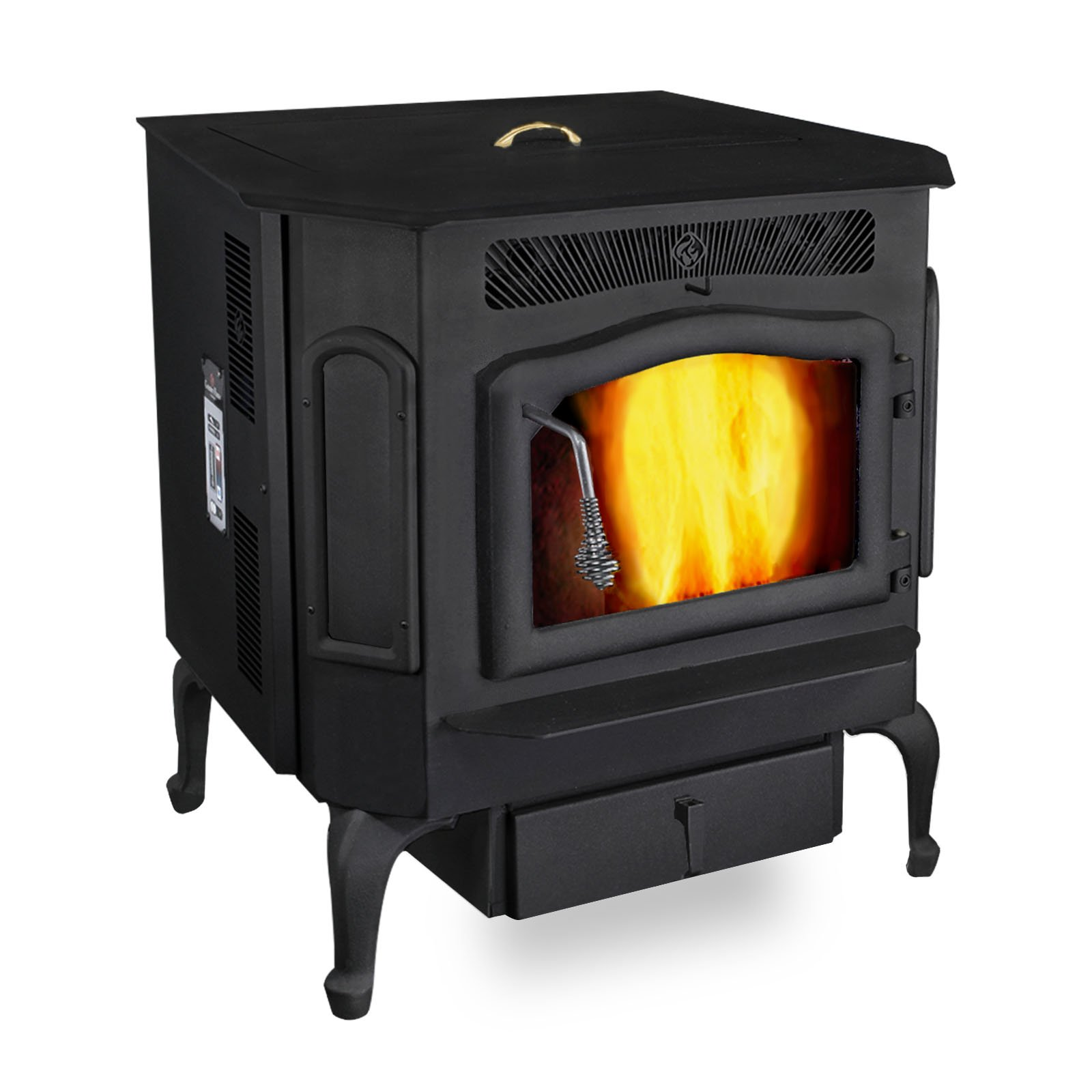 Classic Black Country Flame Harvester Pellet/Corn and Biomass Combustion Stove