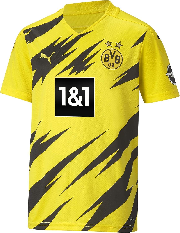 PUMA Unisex Kids Borussia Dortmund BVB Home Shirt Replica Junior Football Shirt Amazon co uk Sports Outdoors