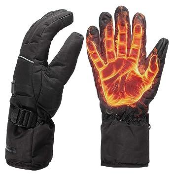 feb24cc52e bescita Winter Warm Handschuhe, Beheizte Handschuhe, bis 55 °C, Entnehmbare  Heiz-
