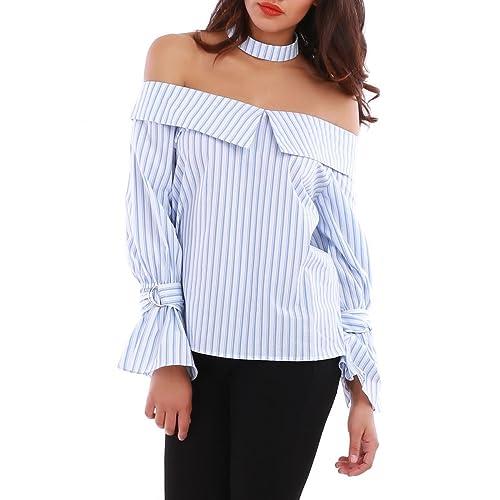 La Modeuse - Camisas - para mujer azul large