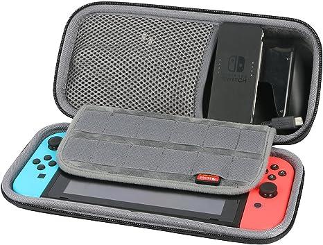 para Nintendo Switch Consola Caja Bolsa Fundas para Joy-Con/EU Cargador / Soporte Carga de co2CREA: Amazon.es: Videojuegos