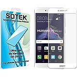 Huawei P8 Lite (2017) (White) Piena Copertura Vetro Temperato Pellicola Protettiva Protezione Protettore Glass Screen Protector