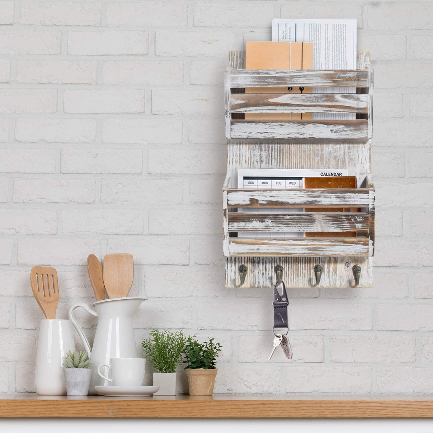 Unistyle Rustic Mail Key Holder for Wall
