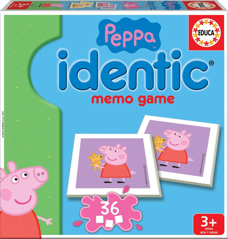 Educa- Identic Memo Game Peppa Pig Juego educativo de memoria para niños, a partir de 3 años (16227)