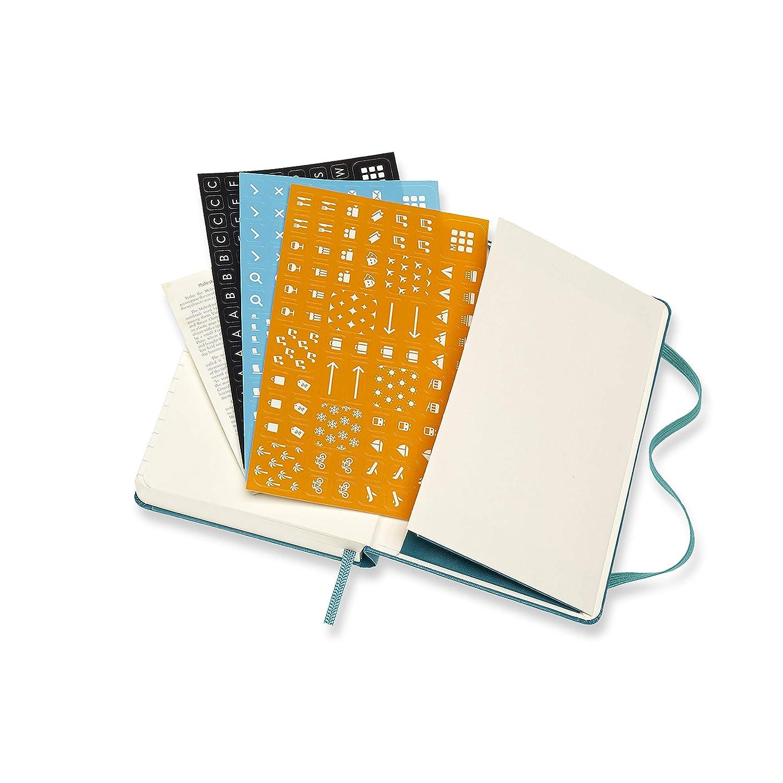 Moleskine - Agenda Diaria de 12 Meses 2020, Tamaño Pequeño 9 x 14 cm, 400 Páginas, Verde Magnético