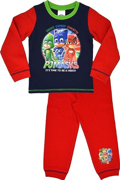 PJ MASKS, DISNEY - Pijama Dos Piezas - para niño Red & Blue