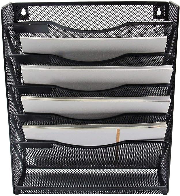 EasyPAG H/ängeregistratur-Organizer mit 6 F/ächern Upgrade Silber