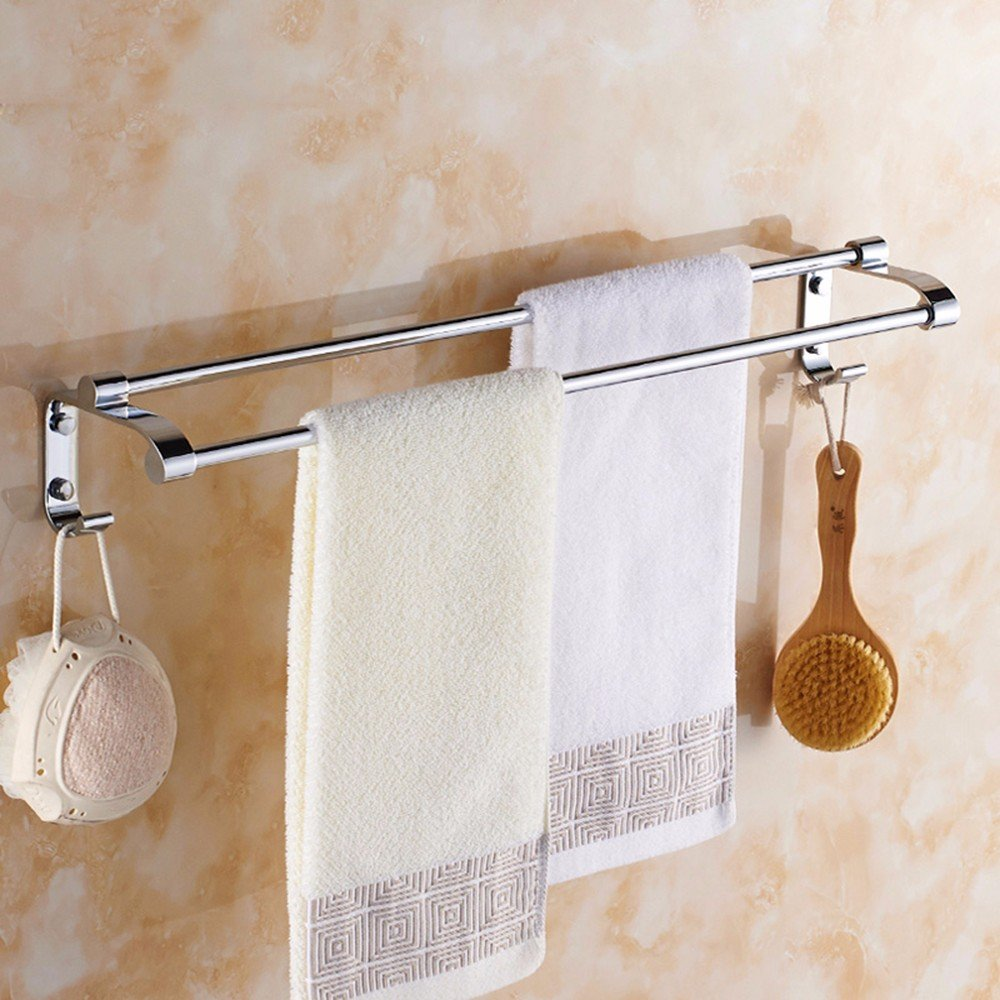 Yomiokla Bathroom Accessories - Kitchen, Toilet, Balcony and Bathroom Metal Towel Ring Hotel is a Single Layer of Copper Works with Rod Length to Basket.