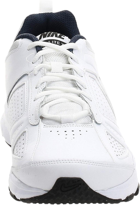 Nike Men's T-lite Xi Sports Shoes White White Obsidian Black Metallic Silver 101