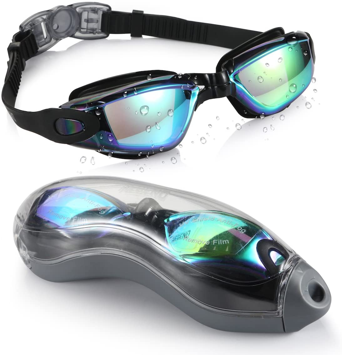 Aegend Adult Unisex Curved Swim Goggles