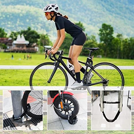 Gate Fence 100cm length SPGOOD Bike lock//bicycle chain//cycling lock 5-Digitls codes Resettable 100,000 codes for bike cycle moto door