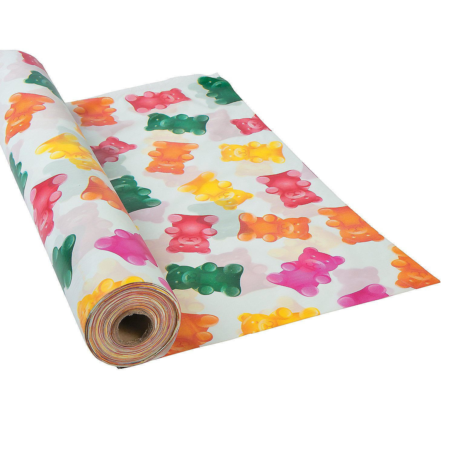 Fun Express - Gummy Bear Tablecloth Roll for Birthday - Party Supplies - Table Covers - Print Table Rolls - Birthday - 1 Piece