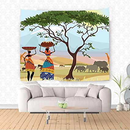 Amazon Com Nalahome Afro Decor Ethno Women In Mountain Range
