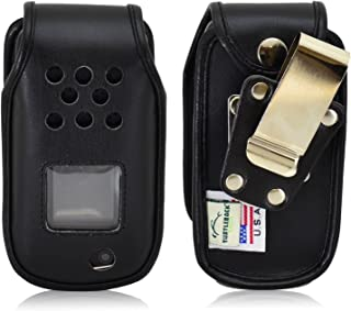 product image for Turtleback Fitted Case Made for Samsung Rugby 4 Flip Phone Black Leather Rotating Removable Metal Belt Clip Made in USA