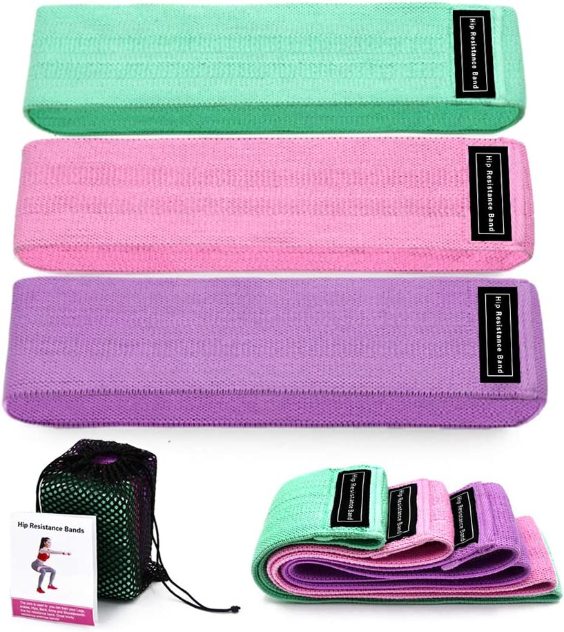 DesirePath Resistance Loop Bands, Resistance Exercise Bands for Home Fitness, Stretching, Strength Training, Physical Therapy, Natural Latex Workout Bands, Pilates Flexbands