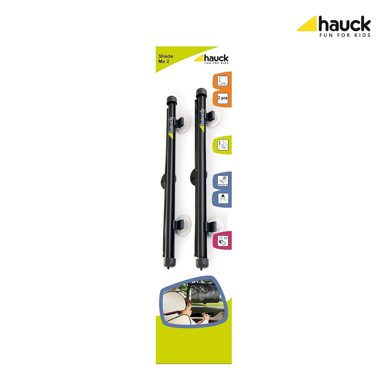 fijaciones con clip en ventana lateral 2 unidades color negro Hauck Shade Me 2 Parasol universal