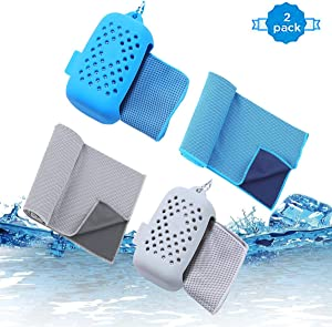 "JINGKE Cooling Towel,3 Pack Cooling Towels for Neck Quick Dry Towels for Yoga,Camping,Golf,Swimming,Gym,Sports,Workout,Travel Suitable for Men, Women, Athletes Size 40""x12"""