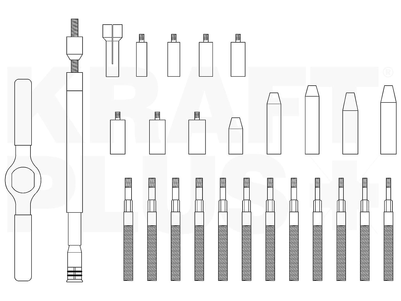 Kraft Plus/® k.207/ /1643/Sac frizione Set di strumenti/ /41/PZ.