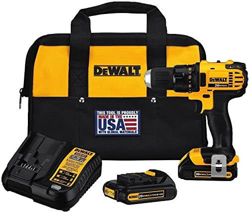 DEWALT DCD780C2 20-Volt Max Li-Ion Compact 1.5 Ah Drill Contractor bag Renewed
