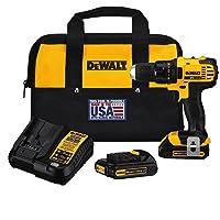 DEWALT DCD780C2 20-Volt Max Li-Ion Compact 1.5 Ah Drill/Contractor bag (Renewed)