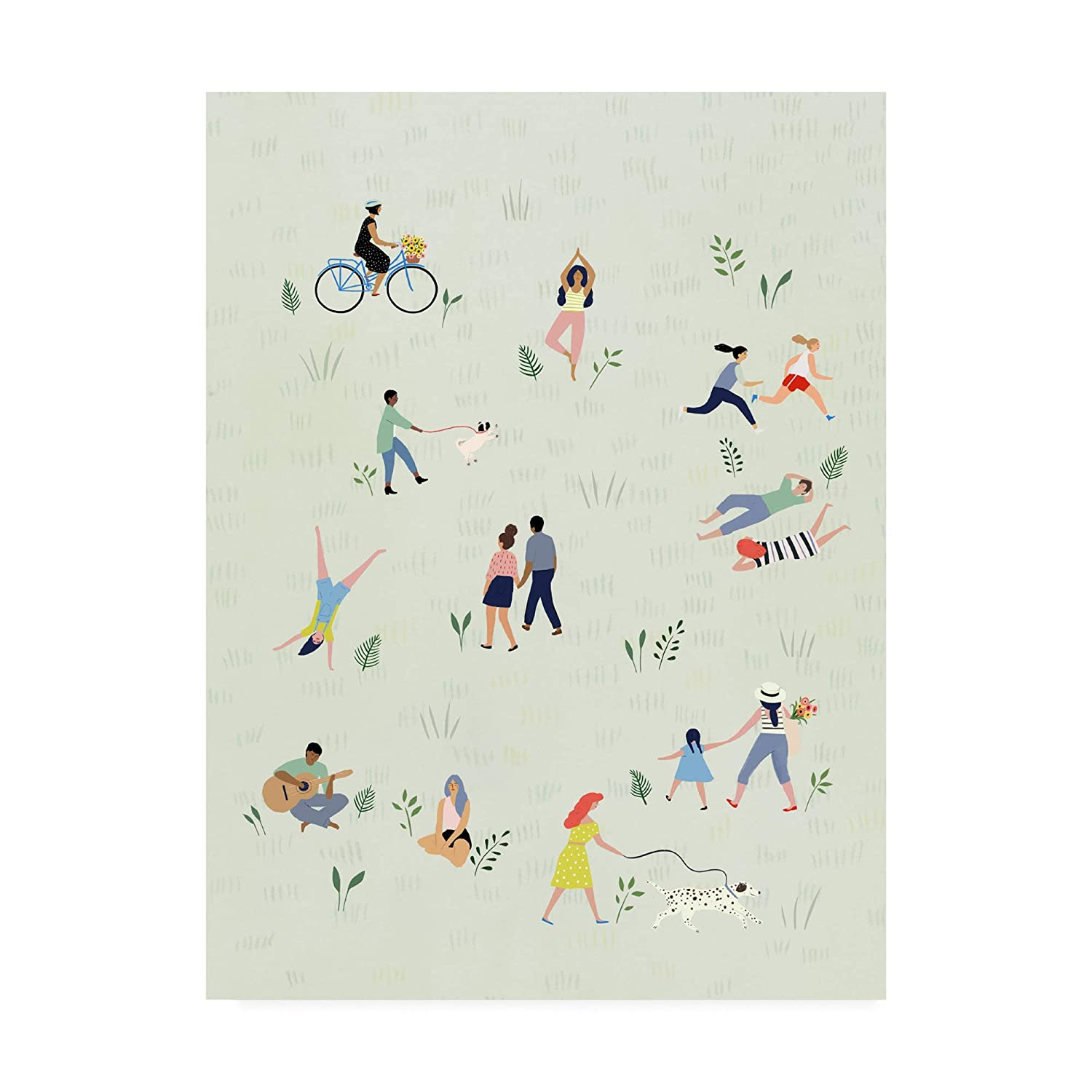 Trademark Fine Art Park People I by Victoria Borges, 14x19