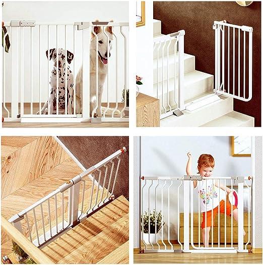 Valla Seguridad Barreras de puerta Presionar A Monte Puerta Del Bebé De La Escalera Protector De
