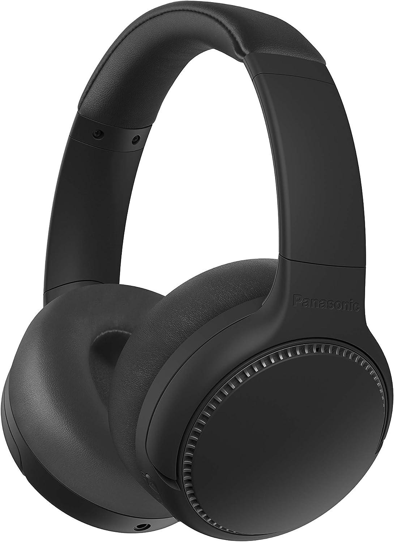 Panasonic RB-M500BE-K - Auriculares inalámbricos Bluetooth (vibración de Auriculares, Control por Voz, XBS Potenciador de Bajos, Cable de 1.2 m, batería de hasta 30 h), Negro