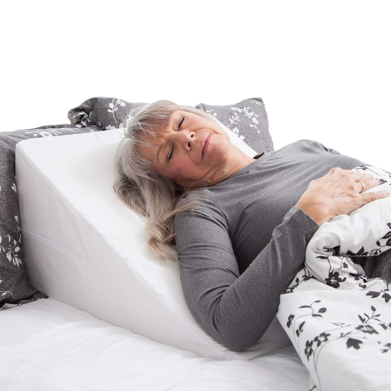 DMI Wedge Pillow to Support and Elevate Neck, Head and Back for Acid Reflux