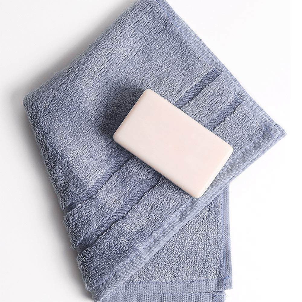 Cariloha 600 GSM Bamboo & Turkish Cotton Washcloths - Odor Resistant, Highly Absorbent - Includes 3 Washcloths - Blue Lagoon