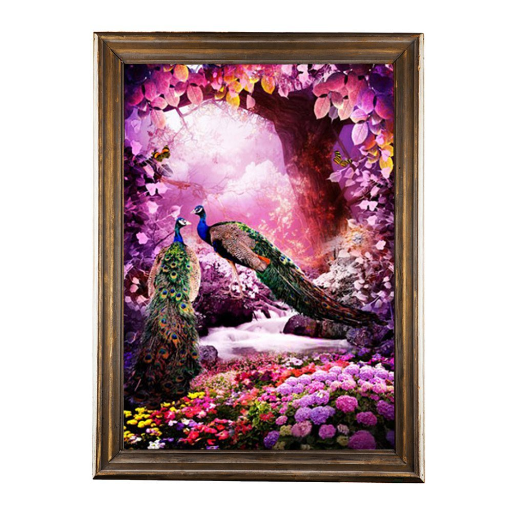 Crafts /& Sewing Cross Stitch D Adarl 5D DIY Full Diamond Painting Rhinestone 3D Peacock Pictures of Crystals Embroidery Kits Arts