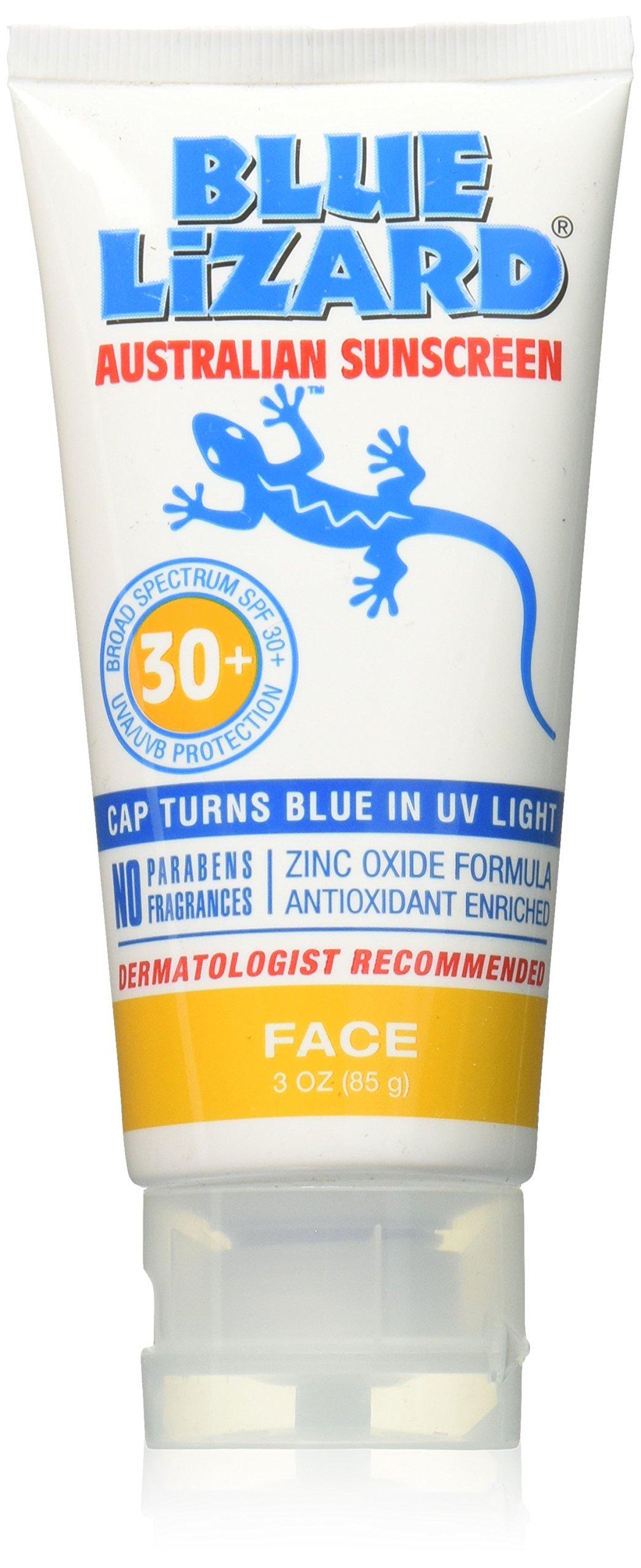 Blue lizard facial sunscreen spf rosacea