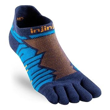 Injinji Socks Rendimiento Ultra correr No Show Calcetines Para Correr Azul - Azul, Small