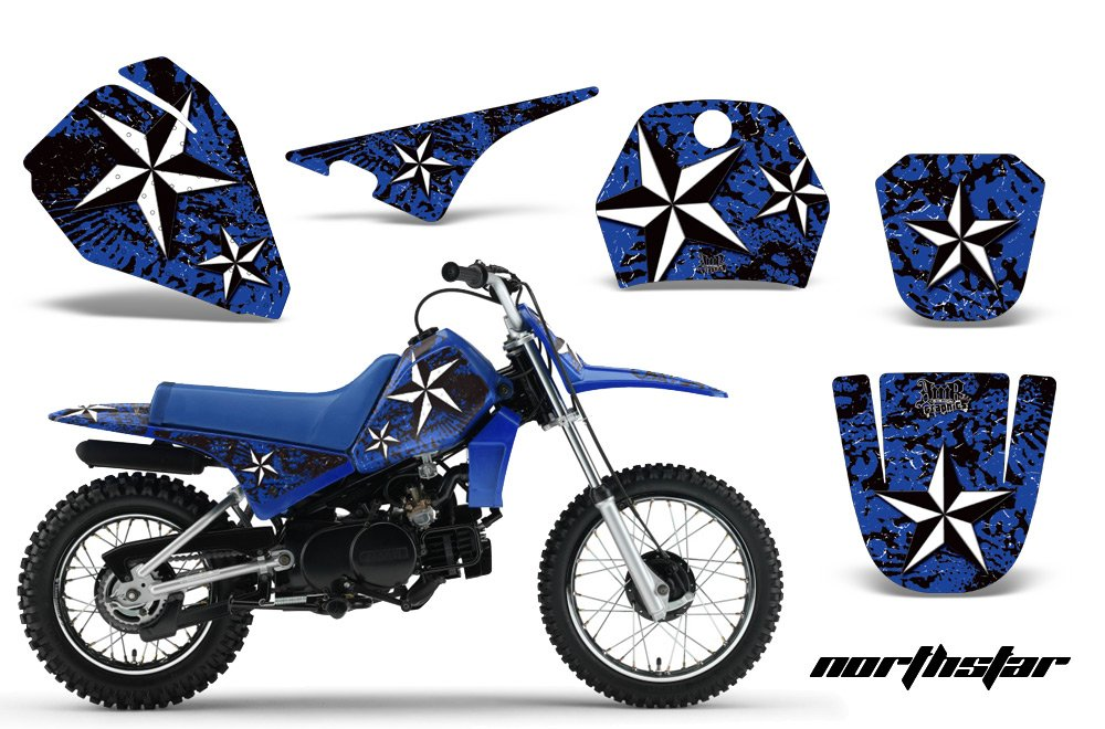 Yamaha PW80 1996-2006 MX Dirt Bike Graphic Kit Sticker Decals PW 80 NORTHSTAR BLUE Amrracing
