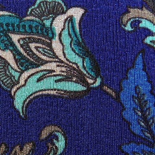 Blue Floral Slinky Plus Size Supersize Extra Long A-Line Top 2xT