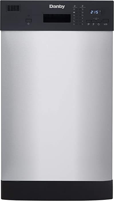 Danby DDW1804EBSS Built in Dishwasher, Black and Stainless Steel