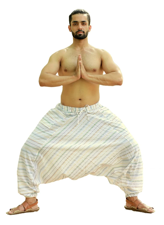Sarjana Handicrafts Mens Cotton Harem Genie Dance Yoga Alibaba Hippie Pants